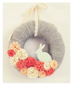 Easter-yarn-wreath